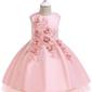 Jasno różowa wieczorowa sukienka dla dziewczynki- 5056