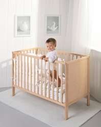 Łóżeczko dziecięce 120x60 cm ECO PANEL TROLL k. naturalny