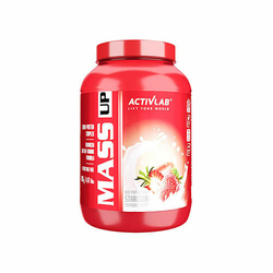 ACTIVLAB Mass Up 2000 g GAINER ODŻYWKA NA MASĘ - Strawberry