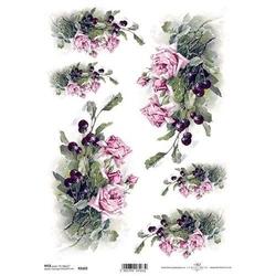 Papier ryżowy ITD A4 R1103 róże