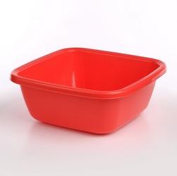 Miska  miednica kwadratowa plastikowa tontarelli 14 l czerwona