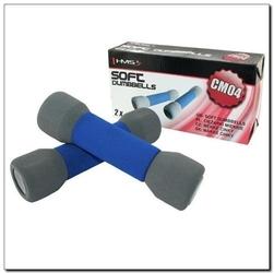 Hantle żeliwne miękkie niebiesko-szare cm05 2 x 1,5 kg - hms