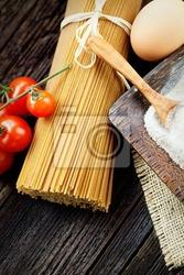 Obraz składniki makaron