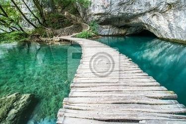 Fototapeta ponte di plitvice