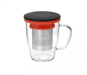 Kubek z zaparzaczem do herbaty 350 ml pao ming infuser czerwony