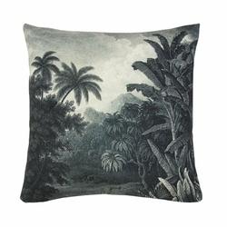 HK Living :: Poduszka Dżungla czarno-biała 45x45cm - Szary