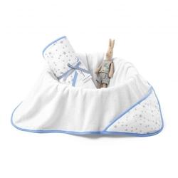 Colorstories - ręcznik bawełniany z kapturem 90×90 milkyway blue m