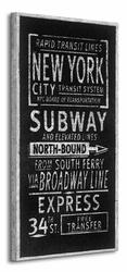 Rapid Transit Lines New York - Obraz na płótnie