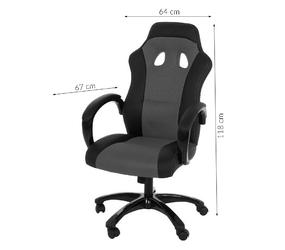 Fotel obrotowy biurowy lent szary