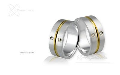 Obrączki srebrne - wzór ag-129
