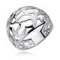 Srebrny ażurowy pierścionek duży pr.925 serce