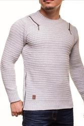 Męski sweter crsm - szary 9507-2