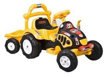 Elektryczny traktorek + przyczepa arti o-kb-6038 żółty