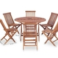 Zestaw ogrodowy stół + 6 krzeseł ruben 2 brązowy