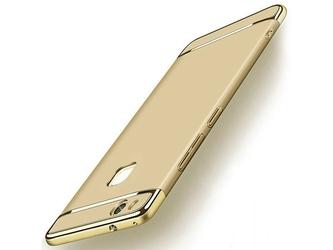 Etui luxury 3w1 do huawei p10 lite złote - złoty