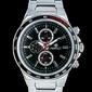 Srebrno-Czarny zegarek meski na bransolecie PERFECT A004 zp205c