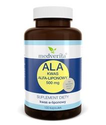 ALA Kwas Alfa-liponowy 500 mg - 100 kapsułek