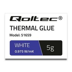 Qoltec Klej termoprzewodzący | 0,975Wm-K | 5g | biały