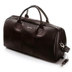 Podróżna torba ze skóry brodrene cortez c10 ciemny brąz
