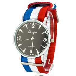 Zegarek nylonowy niebieski I - niebieski I