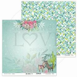 Papier do scrapbookingu Love Llama 30,5x30,5 cm - 01 - 01