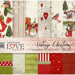 Papier świateczny Vintage Christmas 30,5x30,5 cm - zestaw