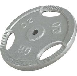 20 kg Obciążenie żeliwne z uchwytami na sztangę 30 mm Gorilla Sports