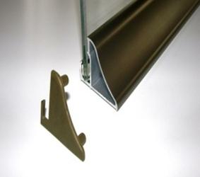 Profil do półek szklanych podświetlanych taśmą LED M6SZ - 600 mm