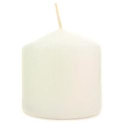 Biała świeca ozdobna - walec 100100 mm - 100100