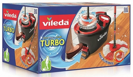 Vileda, Easy Wring  Clean Turbo,  mop obrotowy, komplet
