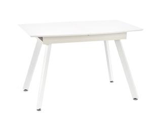 Rozkładany stół do jadalni Sense 120-160x80 cm biały