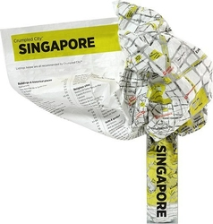 Mapa Crumpled City Singapur