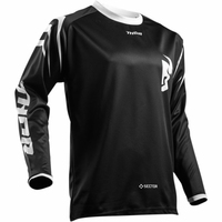 THOR BLUZA SECTOR ZONES S8 OFFROAD JERSEY BLACK
