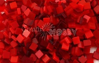 Mozaika ton in ton czerwona 5x5 mm - 700 sztuk - CZE