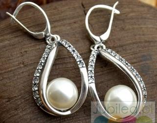 BALENA - srebrne kolczyki z perłą