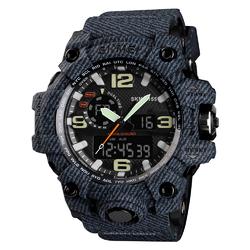 ZEGAREK MĘSKI sport SKMEI 1155 S-SHOCK denim black - denim black