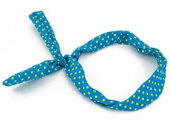 OPASKA NA TOPIE PIN UP niebieska kropki żółte - NIEBIESKA
