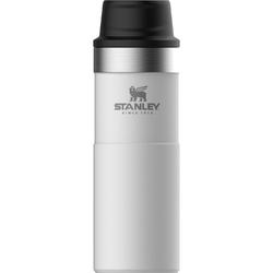 Duży kubek termiczny z przyciskiem One Push Stanley Trigger Classic biały 0,47L 10-06439-032