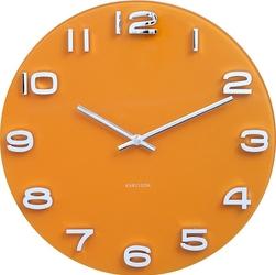 Zegar ścienny Vintage okrągły żółty