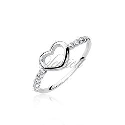 Srebrny pierścionek pr.925 z cyrkoniami - serce