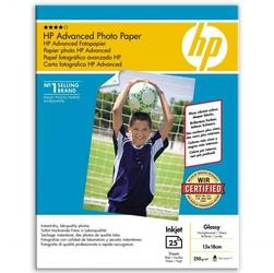HP Advanced Glossy Photo Pa, foto papier, połysk, zaawansowany, biały, 13x18cm, 5x7, 250 gm2, 25 szt., Q8696A, atrament,bez