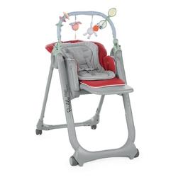Krzesełko do karmienia  Polly Magic Relax Red + Kubek + Talerzyk