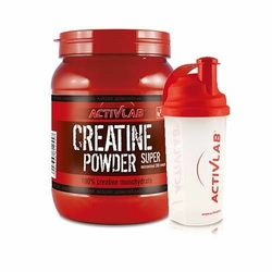 ACTIVLAB Creatine Powder - 500g + Shaker - Lemon