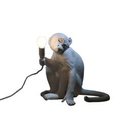 Seletti :: Lampa stołowa Monkey Sitting - biały