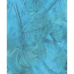 Dekoracyjne piórka puchate 3 g - turkusowe - TUR