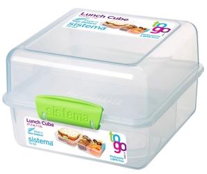 Pudełko śniadaniowe Lunch Cube To Go 1,4l zielone