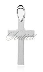 Srebrny krzyż pr.925 krzyżyk prosty satynowany