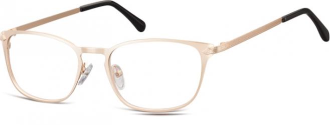 Oprawki okularowe kocie oczy damskie stalowe Sunoptic 991H złote