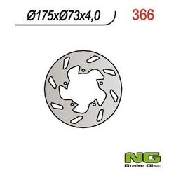 Ng366 tarcza hamulcowa gilera, piaggio 175x73x4