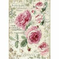 Papier ryżowy Stamperia A4 róża angielska
